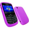 View Item iGadgitz Purple Silicone Skin Case Cover for BlackBerry Curve 8520 Gemini &amp; Curve 3G 9300 + Screen Protector